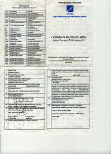 Airline Transport Pilot Licence