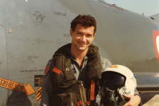 soon after landing an Aermacchi G91 T jet