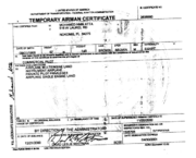 Atta Temporary Airman Certificate 21st December 2000.png